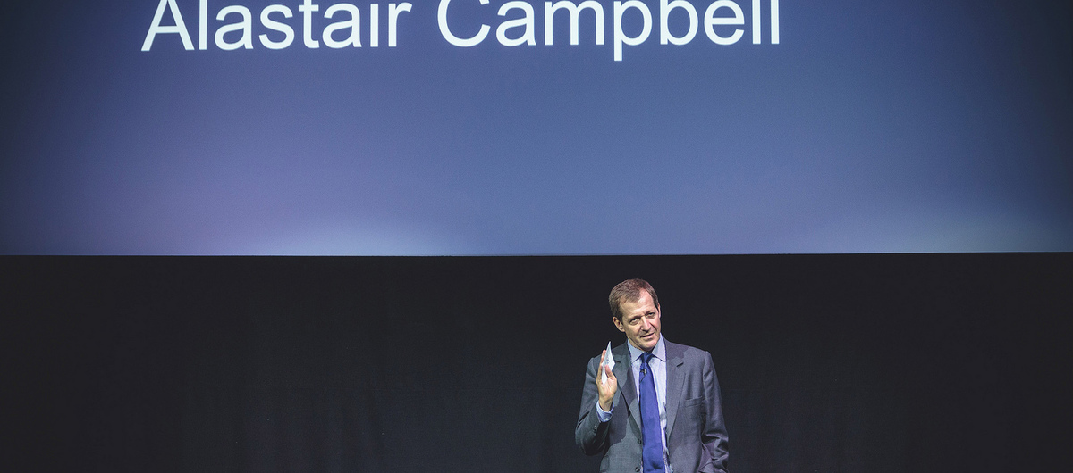 Alastair Campbell on stage