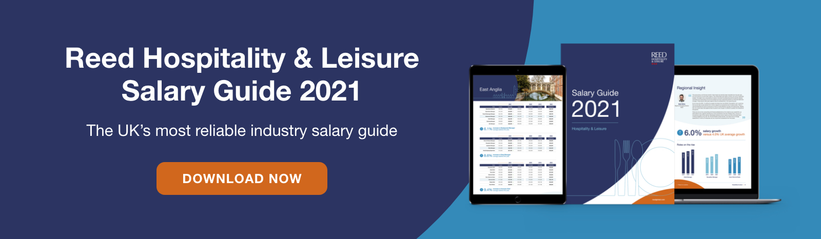 Download the Reed Hospitality and Leisure Salary Guide 2021 now